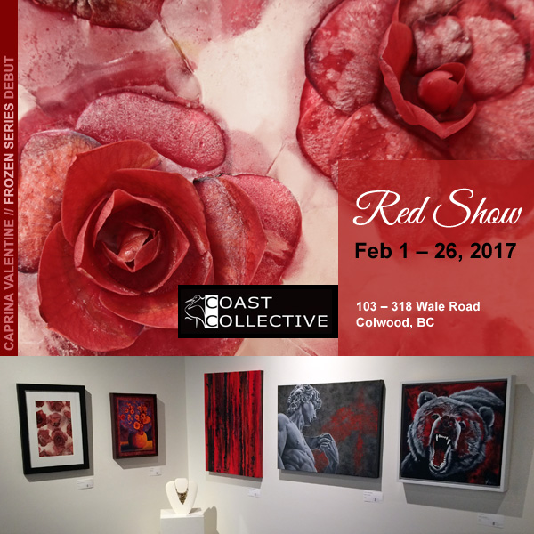 2017 Red Show at Coast Collective Gallery